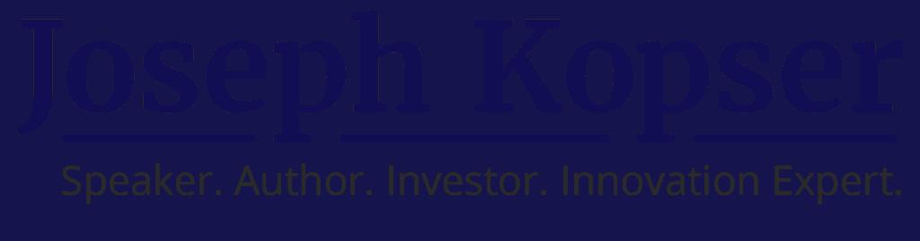Joseph kopser keynote speaker logo