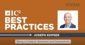 Joseph Kopser – Being a Catalyst: Networks and Connections